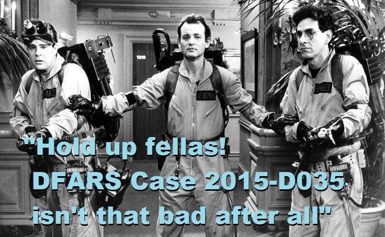 Anatomy of a Decision: DFARS Case 2015-D035 - MyPropertyID
