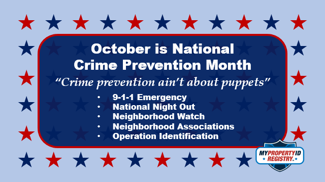 October is Crime Prevention Month
